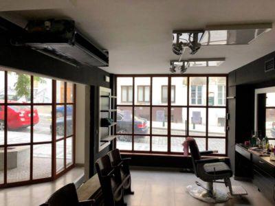 napínané stropy v barber shopu 2