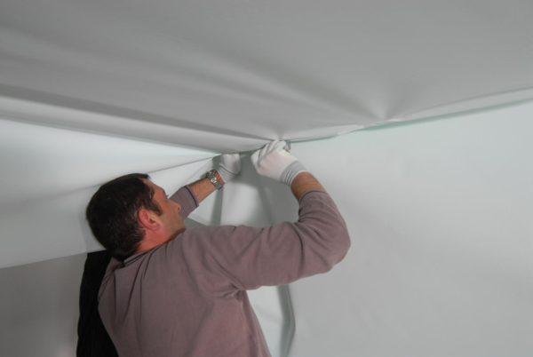 Montaž textilného stropu