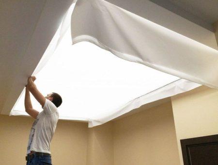 Tkané stropy a steny